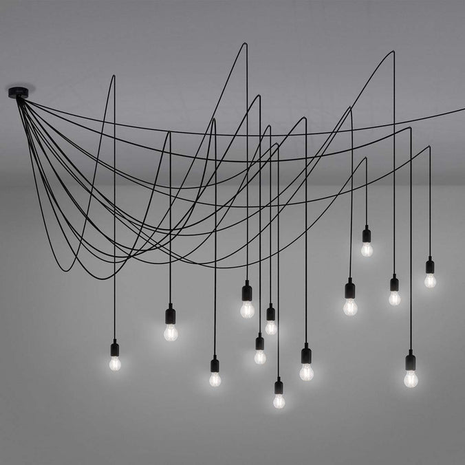 Seletti Maman Hanging Lamp, Set of 14 LED Lights - Transparent Bulbs