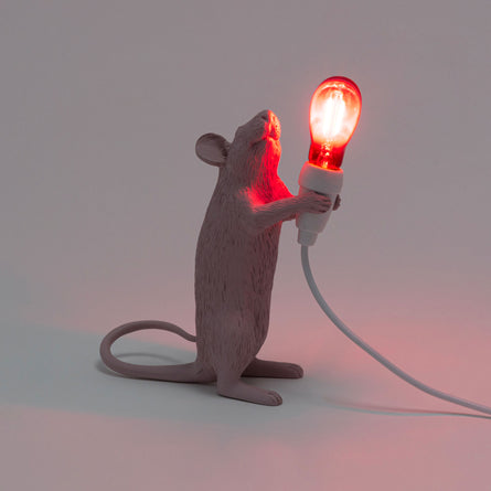 Seletti Mouse Lamp Standing, Love Edition Valentines Day