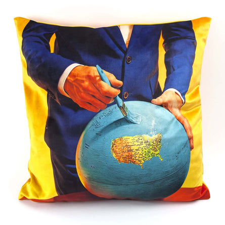 Seletti Wears Toiletpaper Cushion Cover, Globe