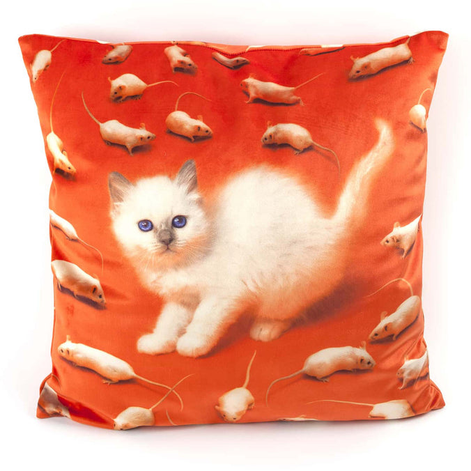 Seletti Wears Toiletpaper Cushion Cover, Kitten