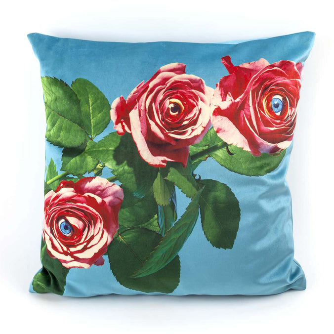 Seletti Wears Toiletpaper Cushion Cover, Roses