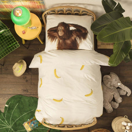 Snurk Banana Monkey Duvet Set