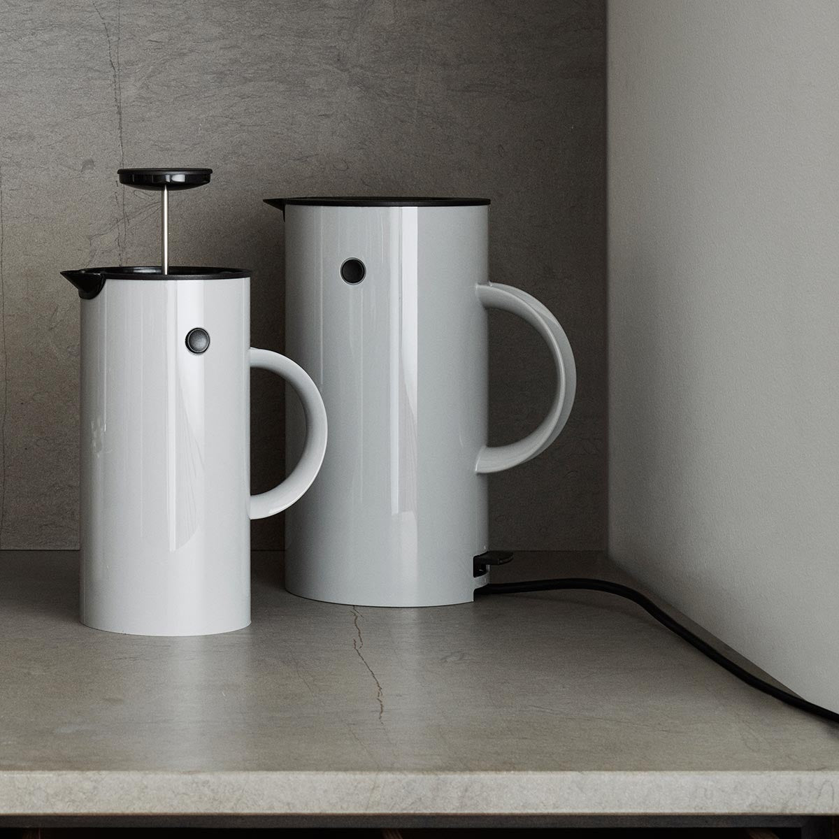 EM77 Kettle in Black by Stelton, at The