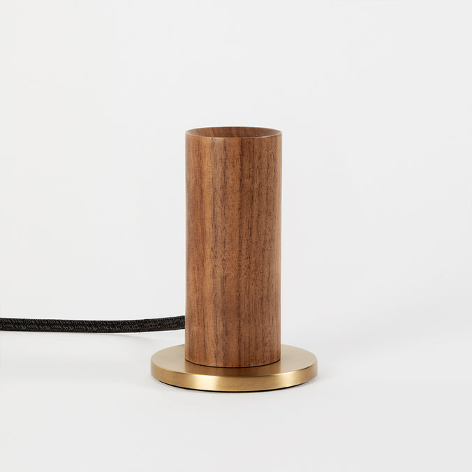 Tala Knuckle Table Lamp, Walnut