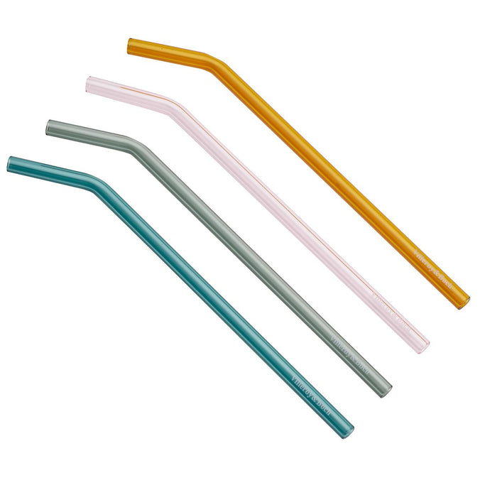 Villeroy & Boch Artesano Glass Reusable Straws, Set of 4