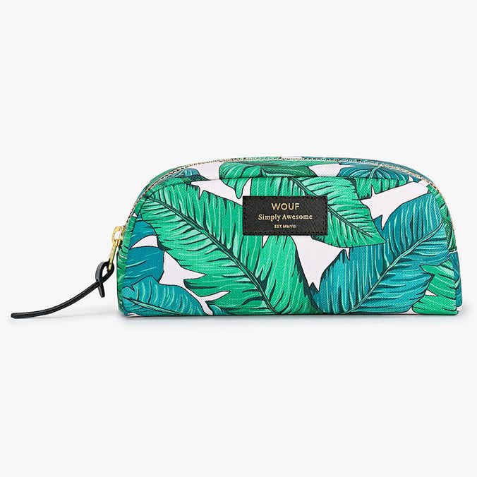 Wouf Small Beauty Cosmetic Bag, Tropical