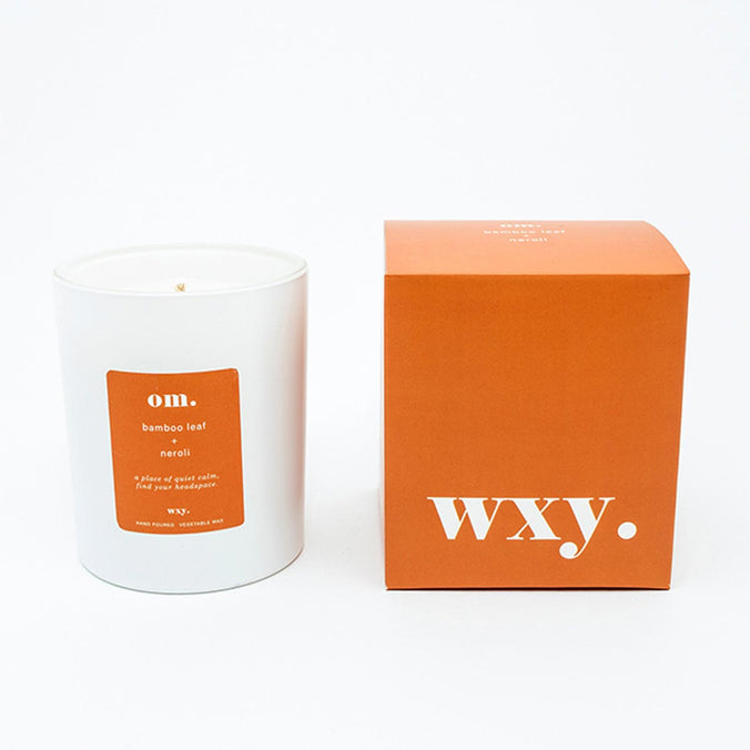 WXY om. scented candle, Bamboo Leaf & Neroli