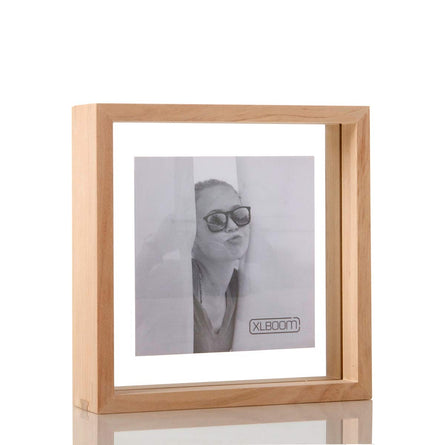 XL Boom Floating Box Photo Frame 20x20cm, Timber