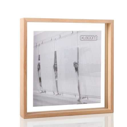 XL Boom Floating Box Photo Frame 32x32cm, Timber