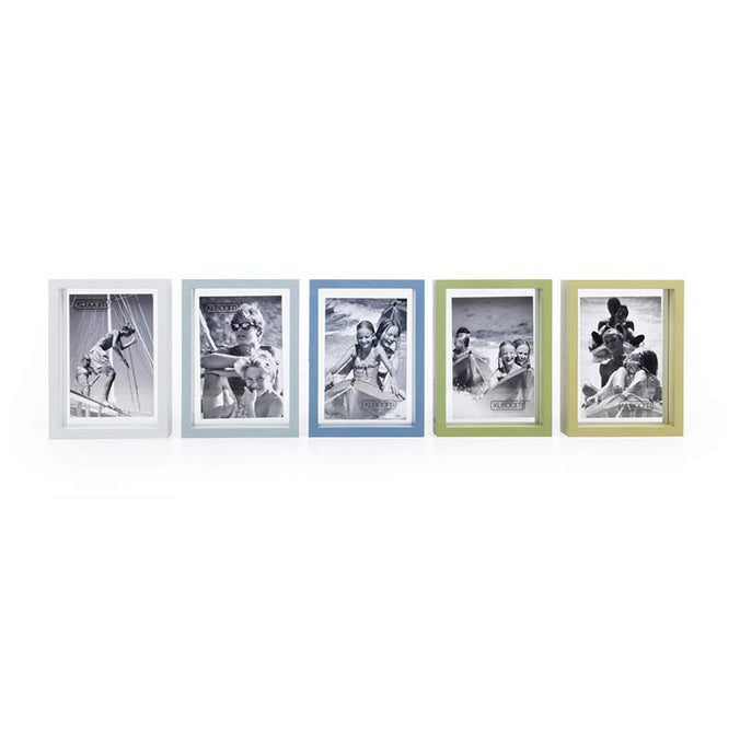 XL Boom Floating Box Photo Frame Set of 5, Mixed Colours