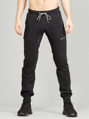 Synergy Tapered Gym Sweatpants Black 1