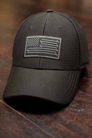 Stars And Bars Blackout - Tech Mesh Flexfit