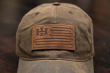 Stars & Bars Outdoorsman - Brown Waxed Canvas (Adjustable)