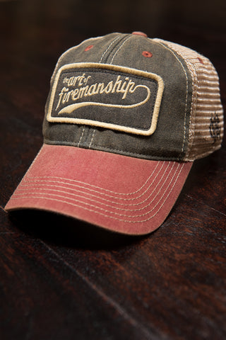 Art of Firemanship - Red and Black Trucker Snapback