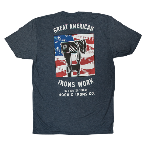 Great American Irons Work - Heather Navy