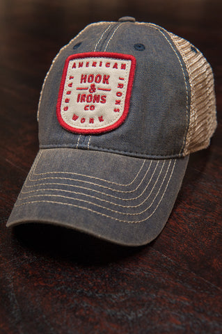 Great American Irons Work - Navy Snapback Trucker