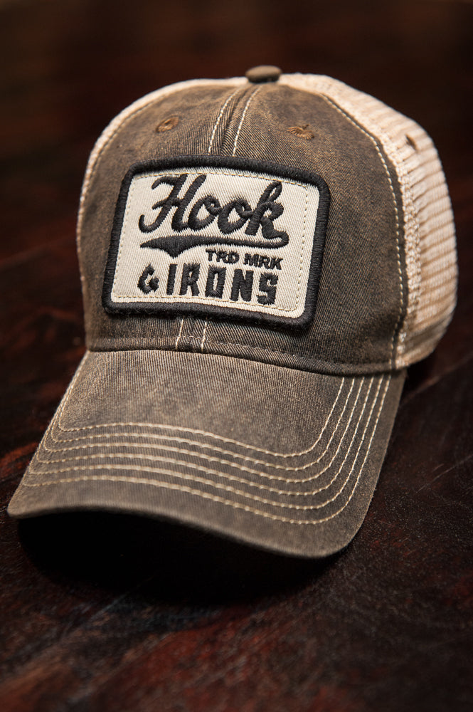 Hook Trucker - Black Flexfit (Fitted)
