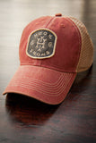 Vintage Trucker - Red Snapback (Adjustable)
