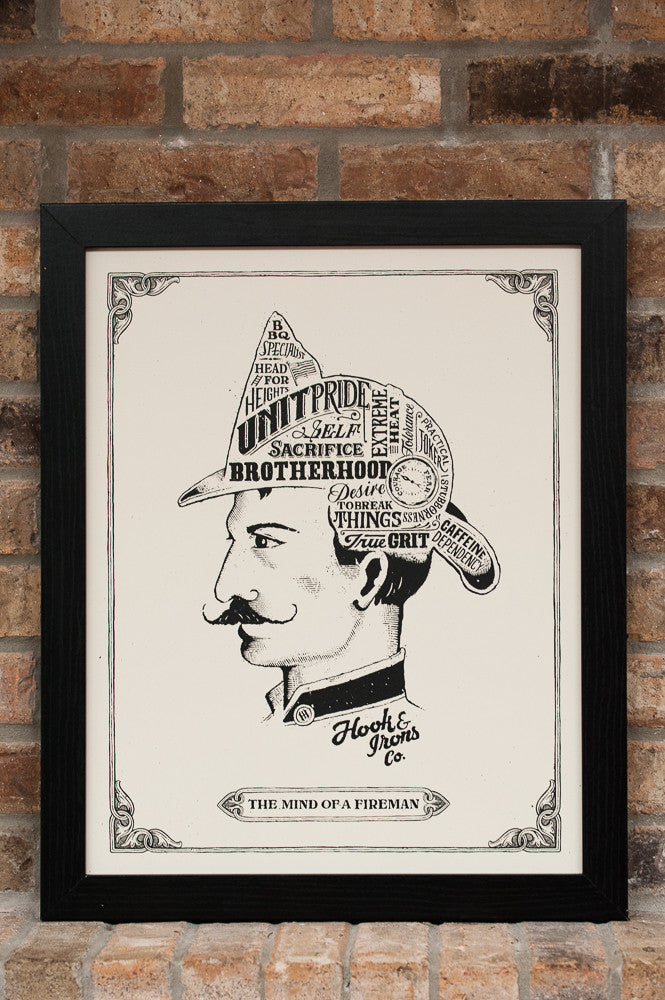 The Mind Of A Fireman - Open Edition Print