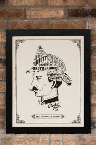 The Mind Of A Fireman - Print