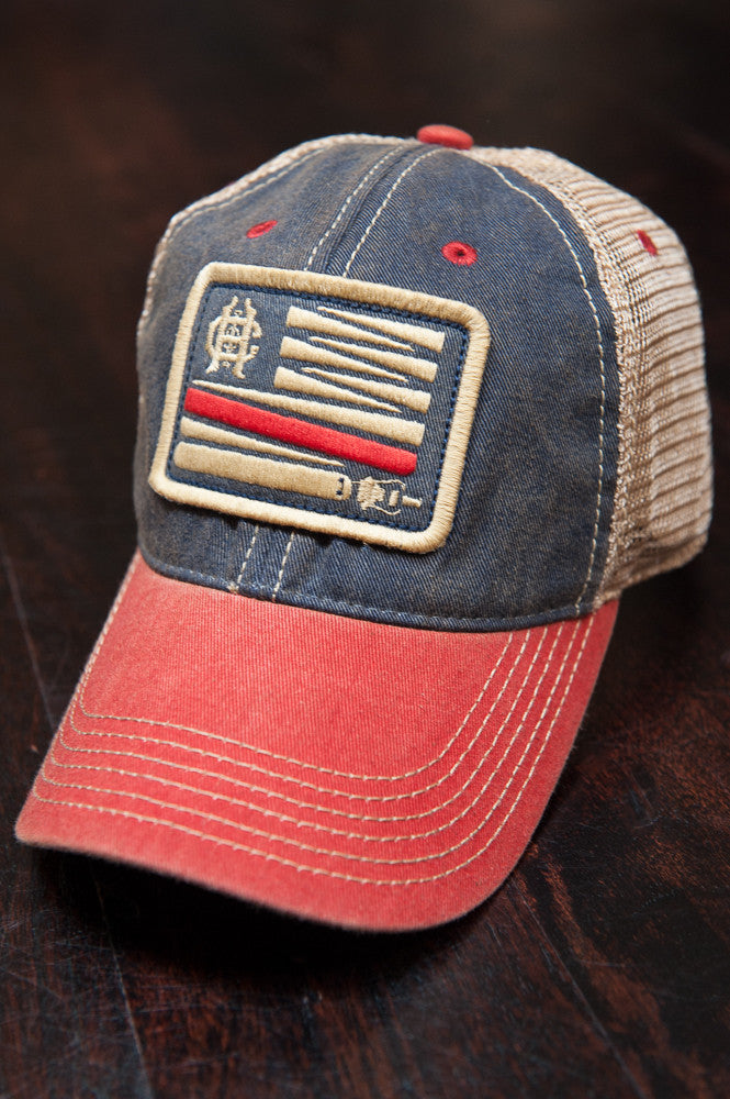 0209d1c08c2cd6 H&I United - Red White and Blue Snapback Trucker - Hook & Irons Co ...