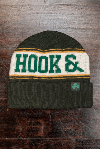 Shamrock Beanie - Forest Green