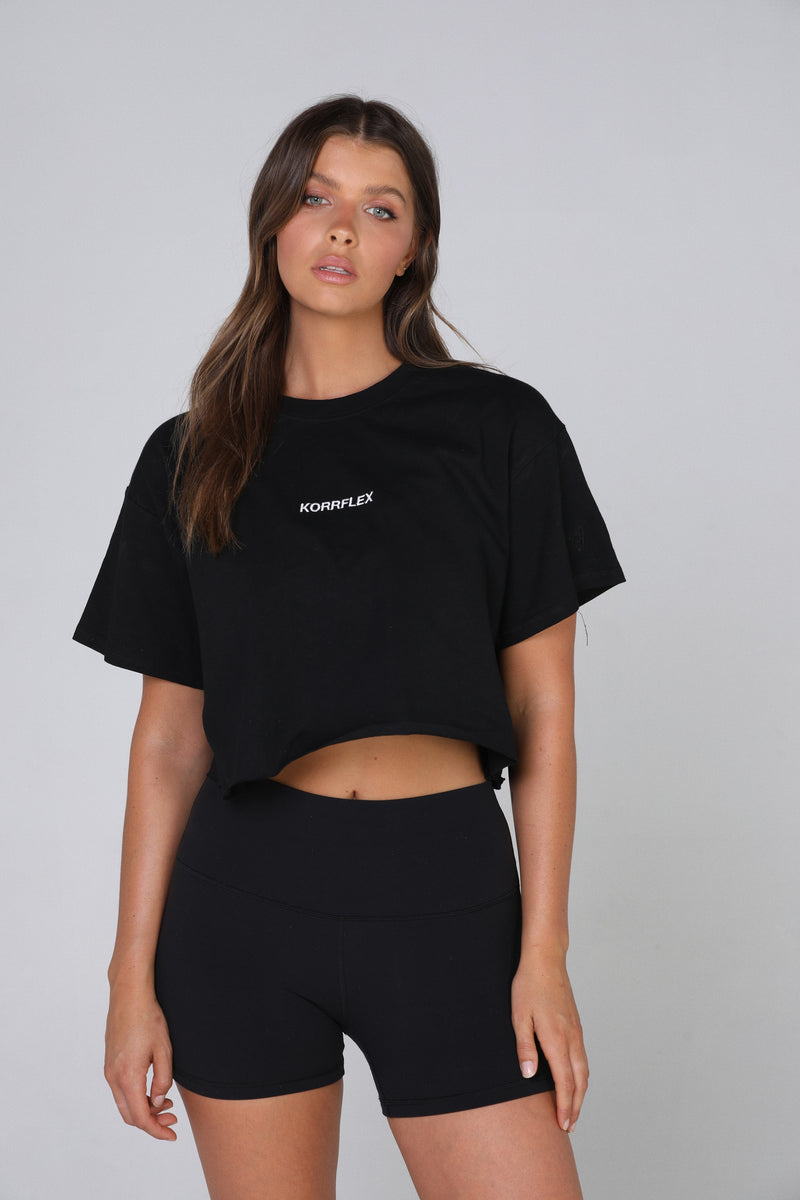 THE KRIS CROP - BLACK