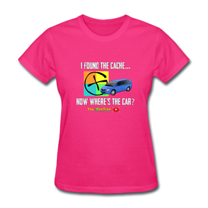 Where's My Car Geocaching Women's T-Shirt - fuchsia