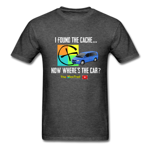 Where's my car? Geocaching Shirt - heather black