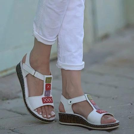 Women Casual Comfy Open Toe Wedge Sandals