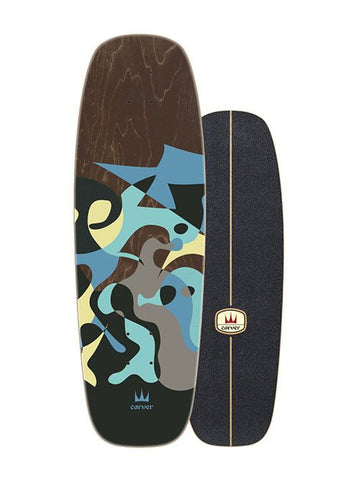 "2020 | Carver 27.5"" Blue Ray Surfskate Deck"