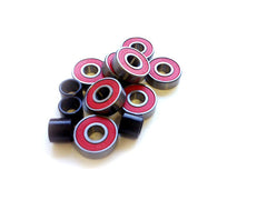 Carver ABEC 7 Red Oiled Double Shield Bearings