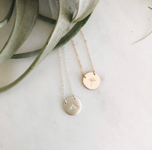 small symbol necklace