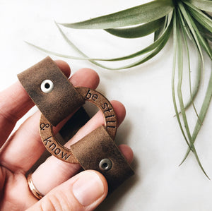 brass ring leather cuff