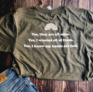 """they're all mine"" mother tee"