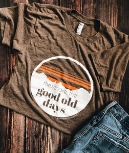 """good old days"" tee"