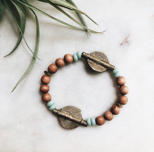 tribal african rosewood diffuser bracelet