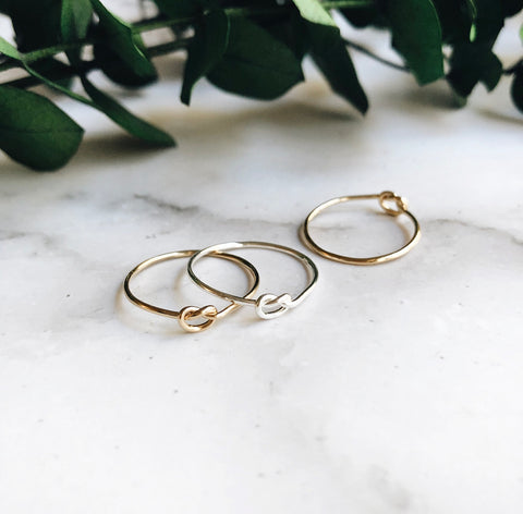 love knot stacking ring