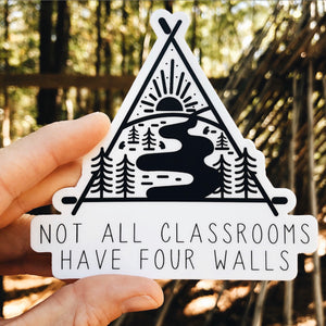 """not all classrooms..."" sticker"