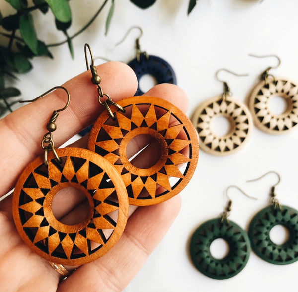 boho mandala earrings