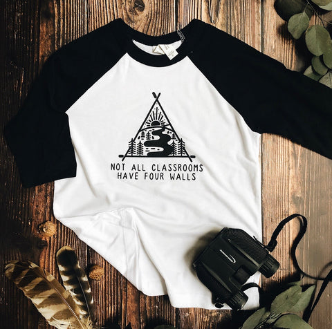 "kid's ""not all classrooms"" raglan"