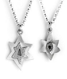 Mother Daughter Star of David Necklaces