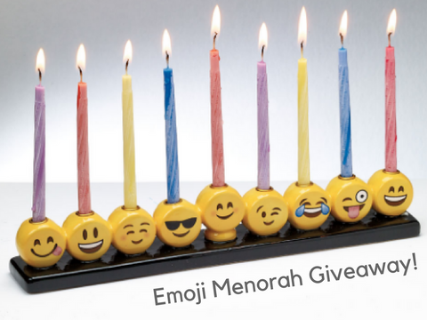 Hanukkah Is Coming Up And Im Sure You Have Tons Of Presents To Buy So Here Your Chance Win One Our Emoji Menorah Adorable Fun For Kids