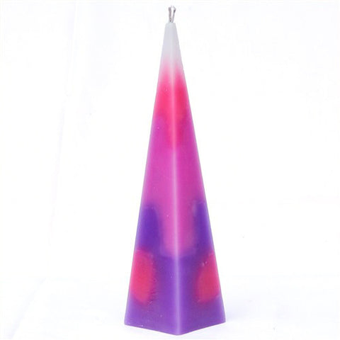Pyramid Havdalah Candle  in Purple - Stands on Its Own! by JET - ModernTribe