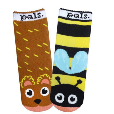Bear & Bee Pals - Sweet as Honey Toddlers Rosh Hashanah Socks