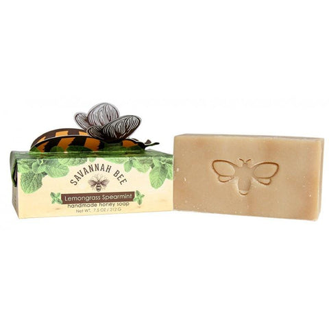 Lemongrass Spearmint Handmade Honey Bar Soap by Savannah Bee Company - ModernTribe