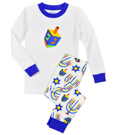 Hanukkah Long John Pajamas - Kids Unisex