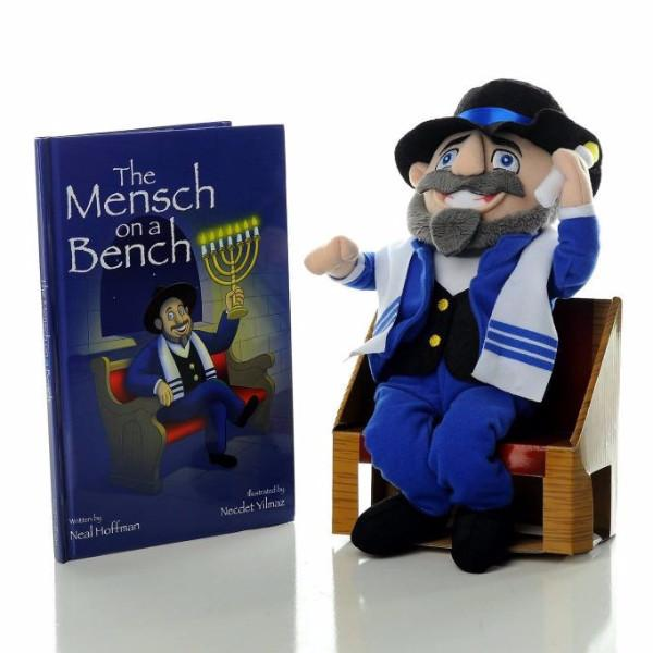 Mensch on a Bench Toy The Mensch On A Bench: Hanukkah Gift Set