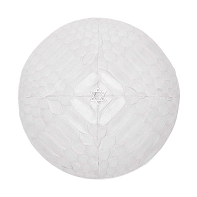 White Python Star of David Kippah