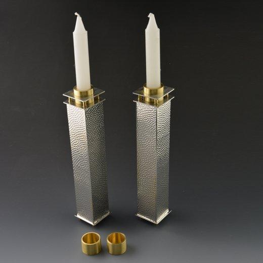 "8"" Tall Square Candle Holders by Joy Stember"